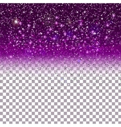 Shiny Particles on Purple background vector image