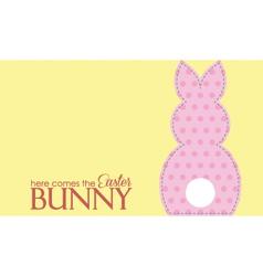 Single easter pink rabbit wording vector