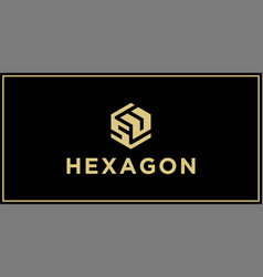 su hexagon logo design inspiration vector image