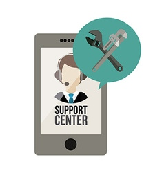 Support center design vector image