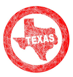 Texas map stamp vector