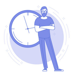 time management and planning concept vector image