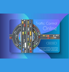 Traffic control online vector