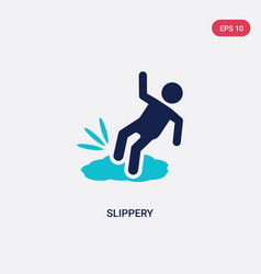 Two color slippery icon from cleaning concept vector