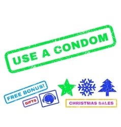 Use a Condom Rubber Stamp vector