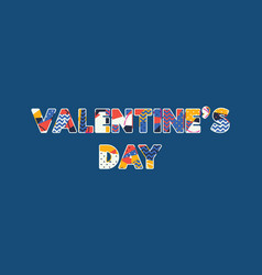valentines day concept word art vector image