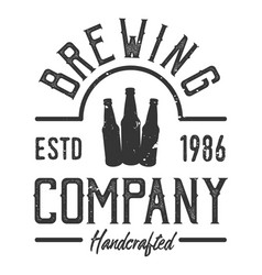 vintage brewing company logotype template vector image