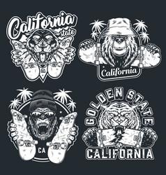 Vintage skateboarding logotypes vector