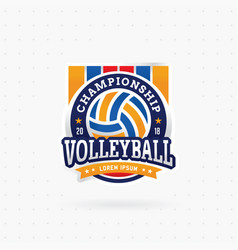 Volleyball tournament logo vector