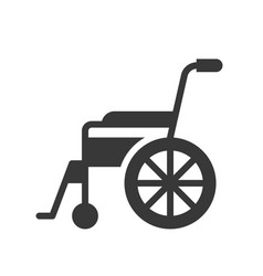 Wheel chair healthcare and medical related solid vector