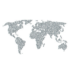 World map mosaic of fast delivery car items vector