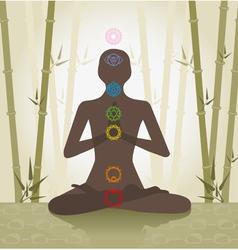 yoga silhouette vector image