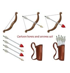 Cartoon bows and arrows vector image vector image