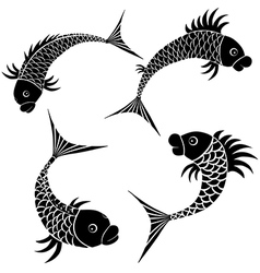 Fish sketch design vector image vector image