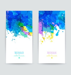 Set of two brochures vector image vector image