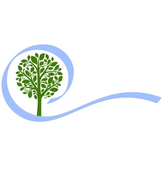 tree emblem 5 isolated on white vector image