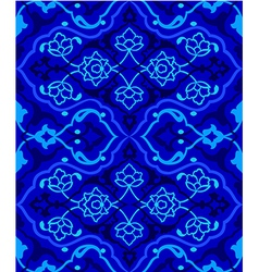 blue artistic ottoman seamless pattern series vector image vector image