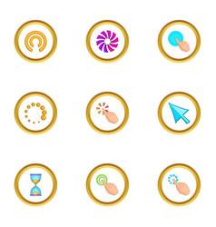 cursor icons set cartoon style vector image vector image