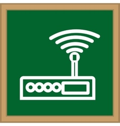Internet wifi router vector image