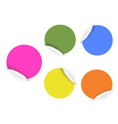 round color stickers vector image