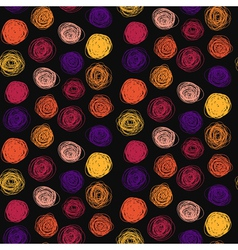 Seamless abstract childish scribble pattern vector image