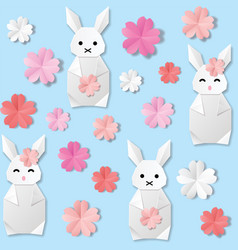 white origami paper vector image
