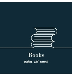Abstract background with outline books sign vector image