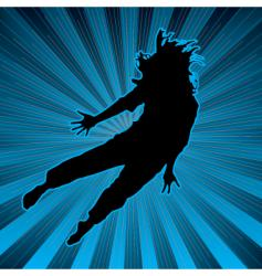 abstract dance background vector image vector image
