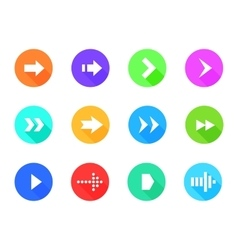 Arrow icons pack vector image