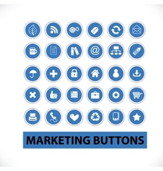 marketing buttons icons set vector image vector image