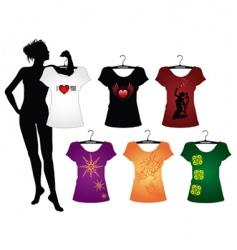 Woman's t-shirts vector image vector image
