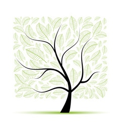 Art tree beautiful for your design vector image vector image