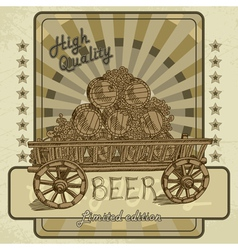 beer tag vector image vector image