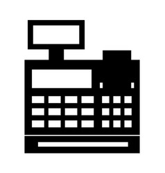 cash register isolated icon vector image