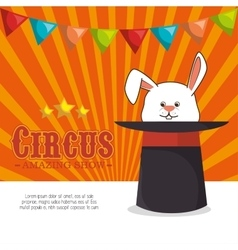circus entertainment amazing show vector image vector image