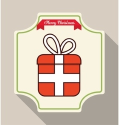 Gift of christmas season design vector