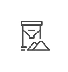 Grain tank line icon vector