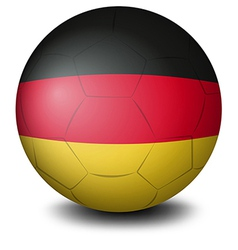 A ball with the flag of Germany vector image vector image