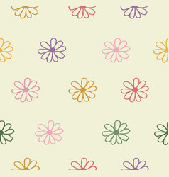 abstract flowers colors background vector image