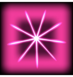 abstract glow rays on square background vector image
