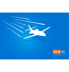 Airplane flight air fly sky blue takeoff vector