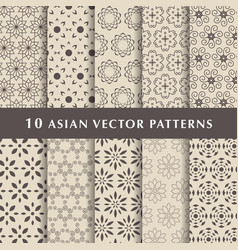Arabic luxury patterns pack vector