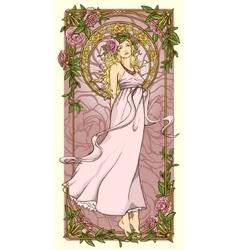 Art Nouveau background vector