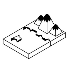 Artic terrain isometric icon vector
