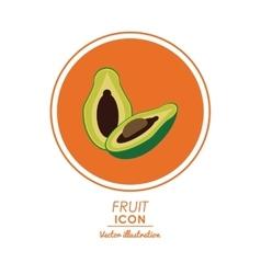Avocado icon Healthy food design graphic vector