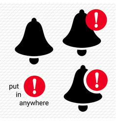 bell icons notification icon bell notification vector image