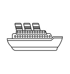 big ship cruise vector image