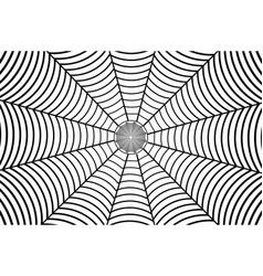 black spider web on white background vector image