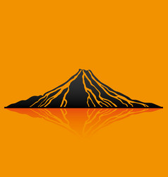 Black volcano sign vector
