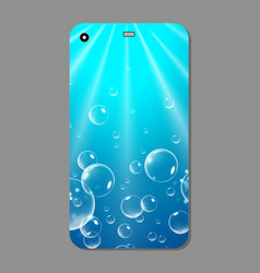 blue sparkling phone case blue template cover vector image